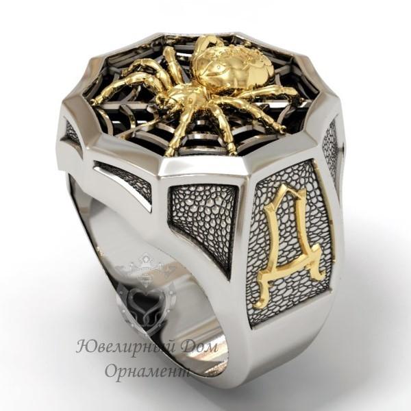 Перстень с изображением паука