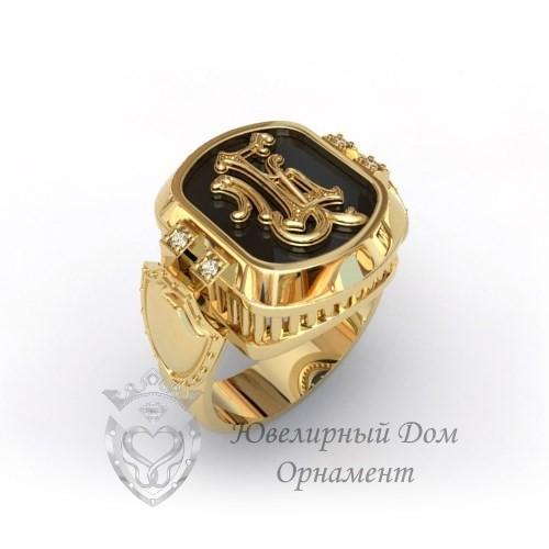 Перстень из золота с монограммой