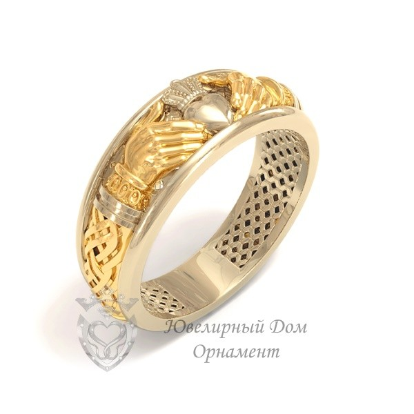 Кладдахское кольцо из комбинированного золота