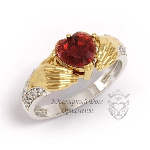 Кладдахское кольцо с гранатом