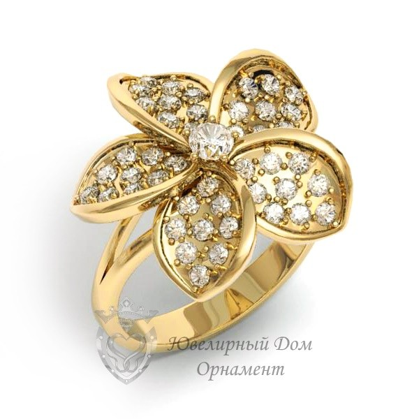 Кольцо из золота с камнями