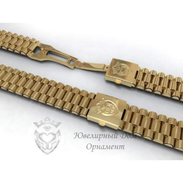 Золотой браслет Орнамент для часов