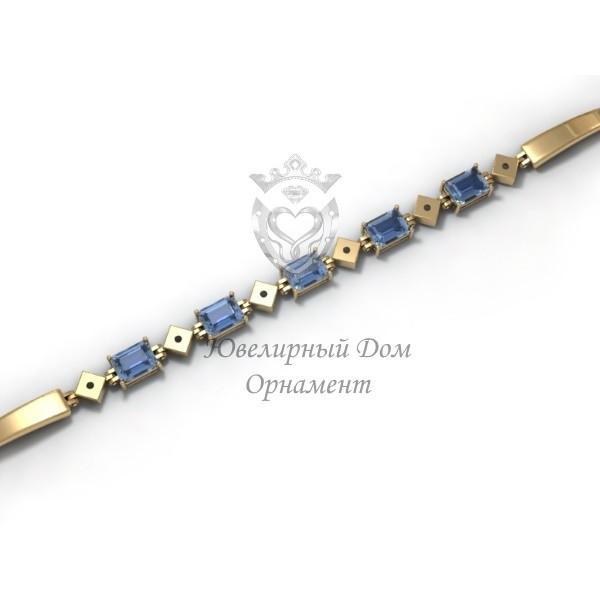 Женский браслет из золота с фианитами