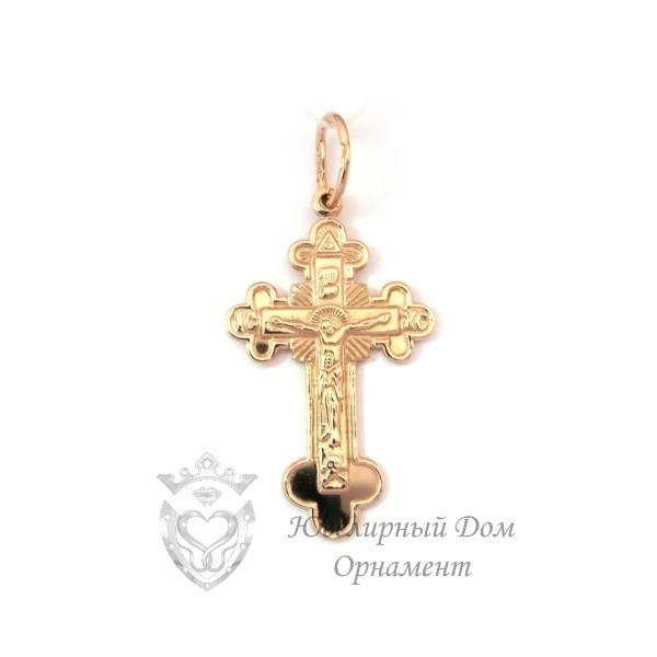 Нательный золотой крестик
