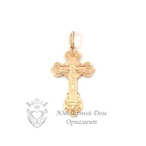Православный золотой крестик