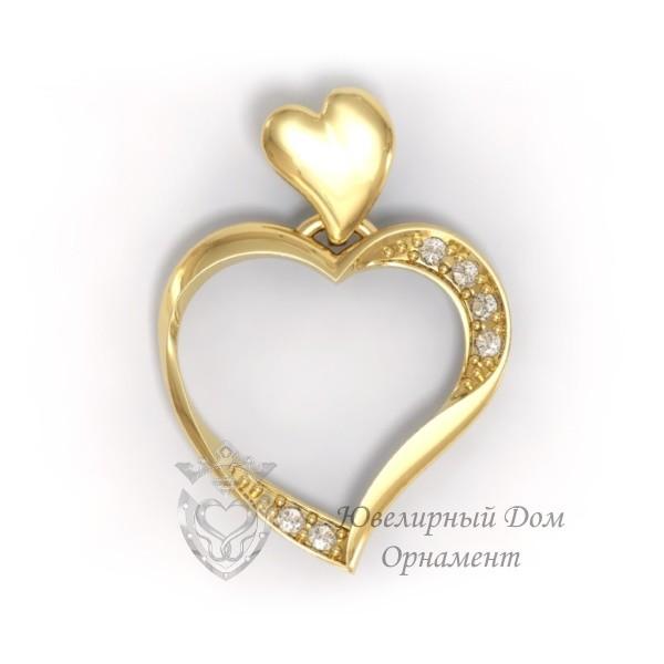 Подвеска из золота Сердце