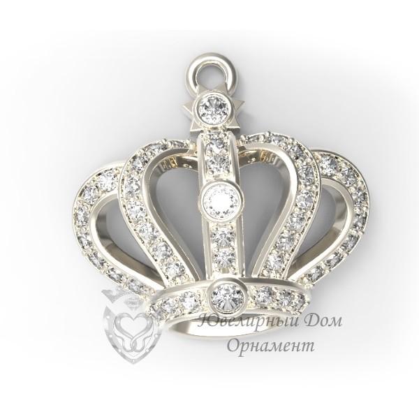Подвеска из серебра Корона