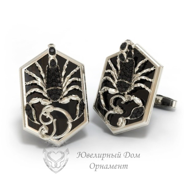 Запонки Скорпион