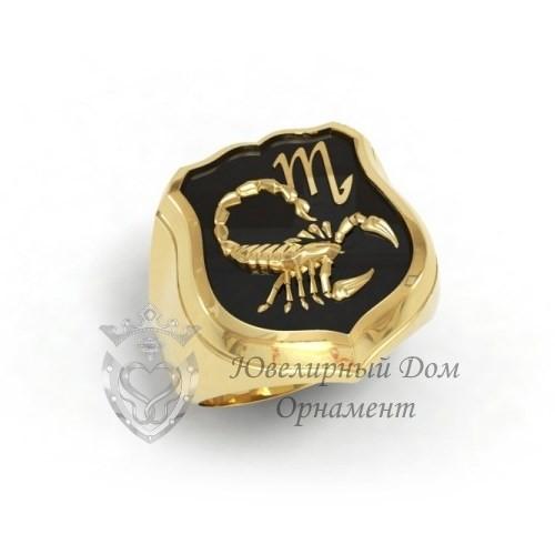 Золотой перстень Скорпион