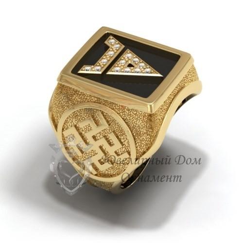 Перстень с древнеславянскими символами