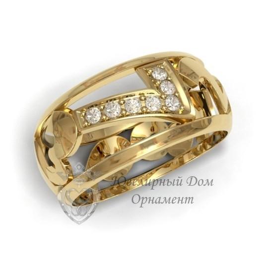 Золотое кольцо с цифрой 7