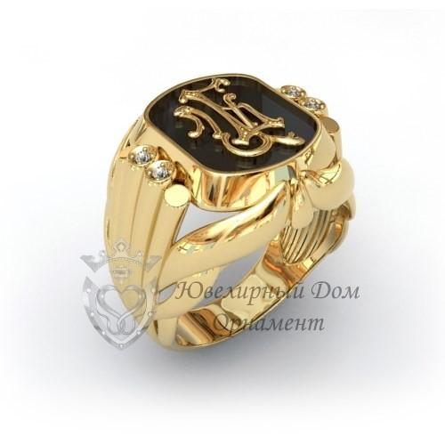 Золотой перстень с монограммой