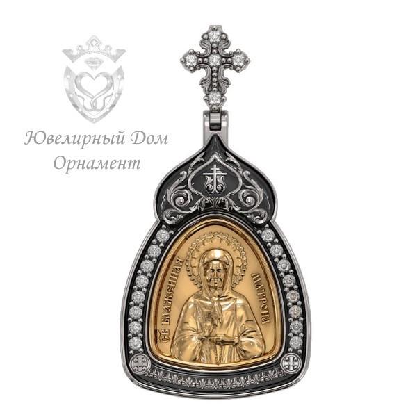 Матрона Московская иконка образок c камнями