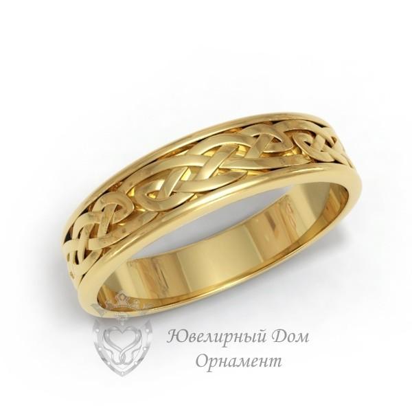 Обручальное кольцо с орнаментом