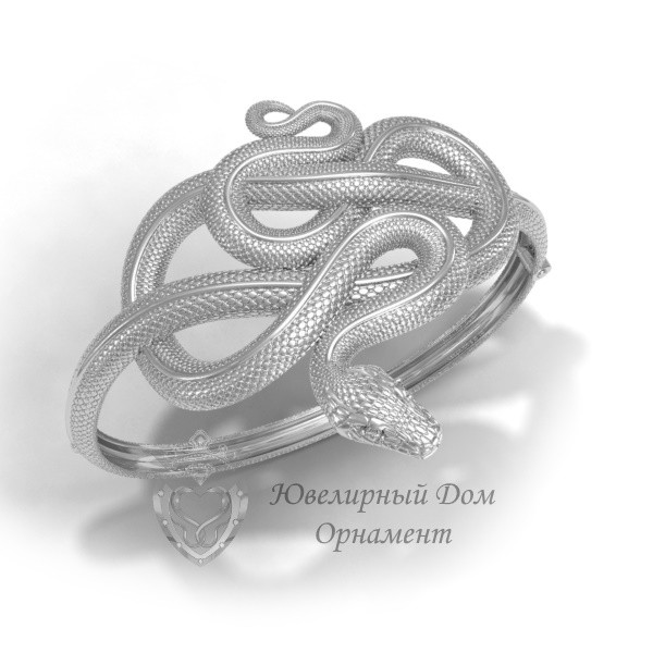 Браслет Змейка из серебра