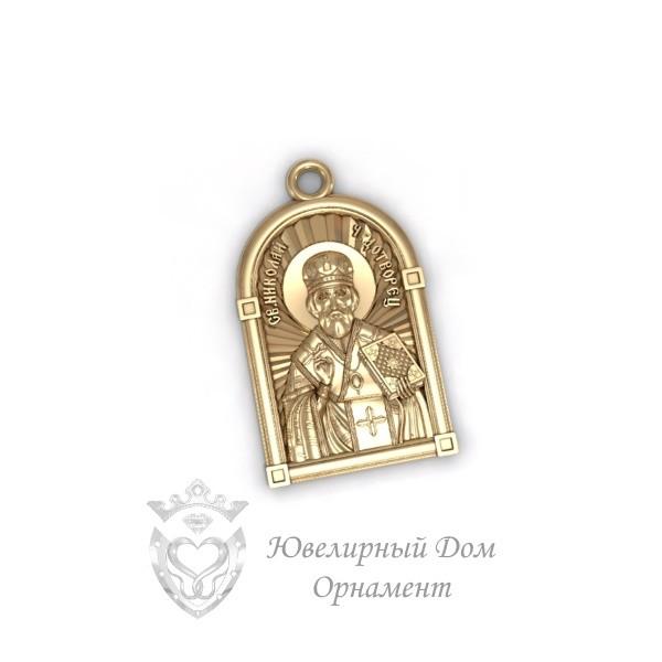 Золотая иконка Николай Чудотворец