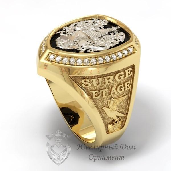 Мужской перстень с гербом
